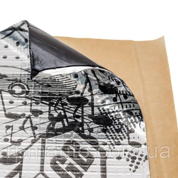 Шумоізоляція Авто STP Вібропласт GB 1.5 мм 47х75 см Обесшумка Віброізоляція Шумка Шумовиброизоляция