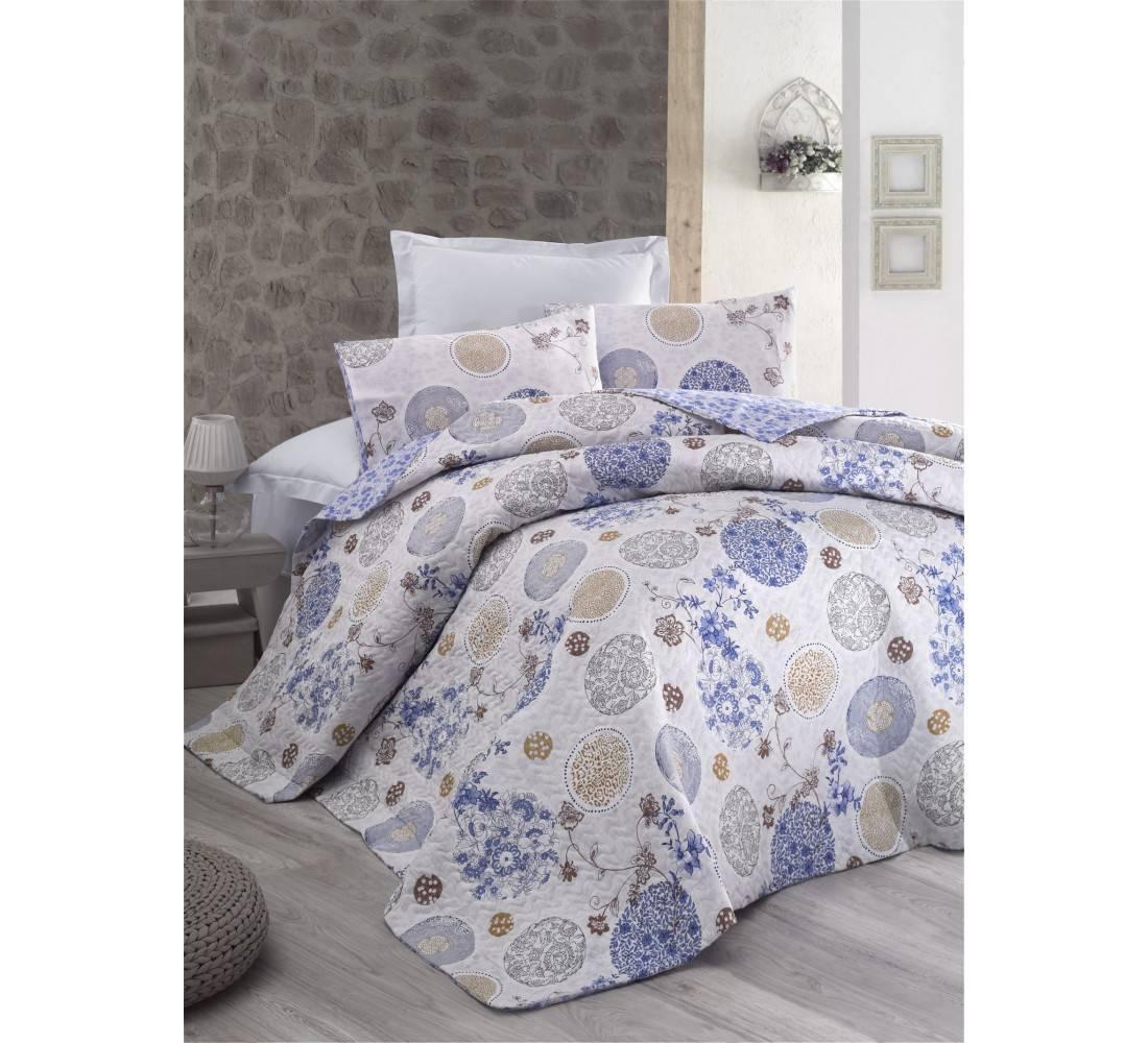 Постельное белье Cotton Box MODE LİNE LOLA MAVI двуспальный - евро