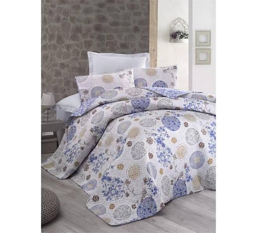 Постельное белье Cotton Box MODE LİNE LOLA MAVI двуспальный - евро, фото 2
