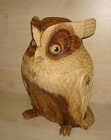 Сова резная деревянная 40 см