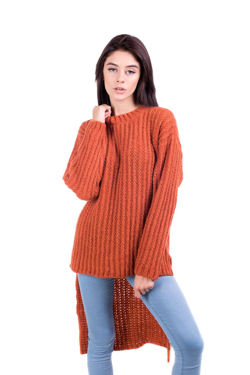 Джемпер с удлиненной спинкой 44-48 размеры 5цветов