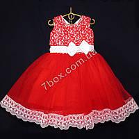 Детское платье бальное Венеция (красное) Возраст 4-5 лет., фото 1