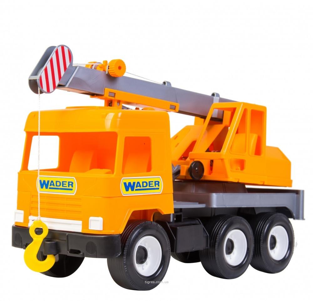 Машина автокран Middle truck city Wader