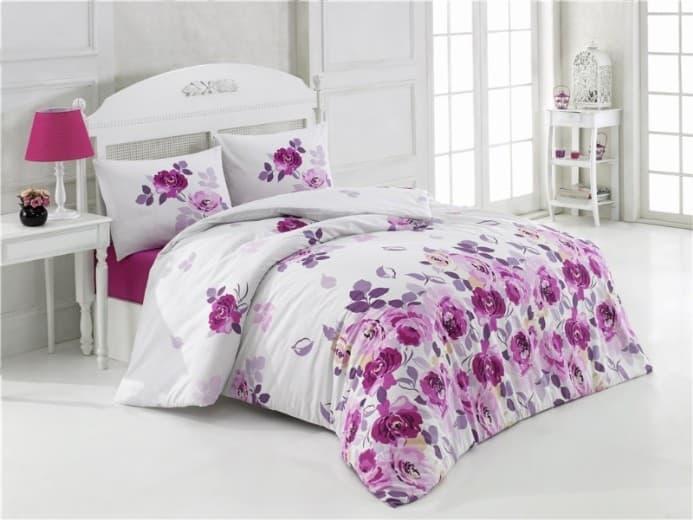 Постельное белье KRISTAL Alanis lila двуспальный - евро