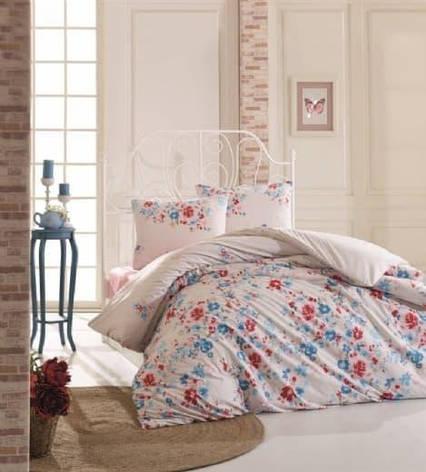 Постельное белье KRISTAL Hera turkuaz двуспальный - евро, фото 2
