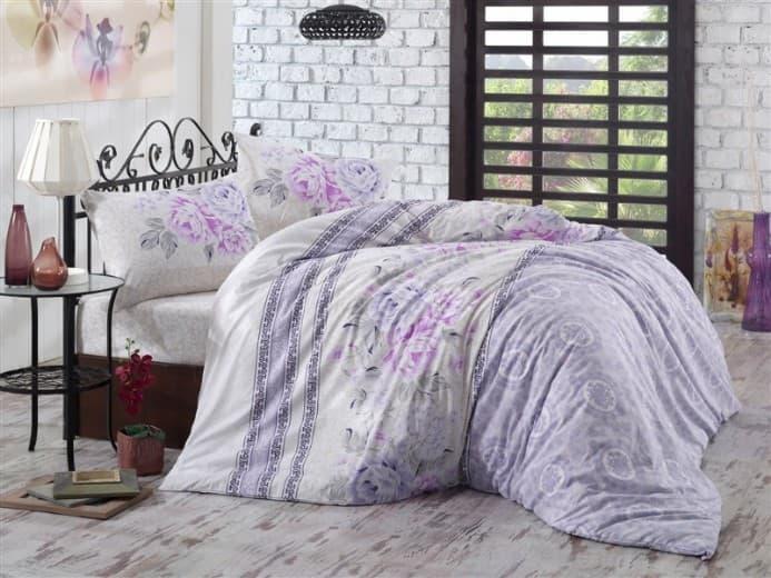 Постельное белье KRISTAL Buglem lila двуспальный - евро