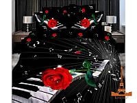 Комплект постельного белья Love You сатин Мелодия семейный (2 пододеяльника)