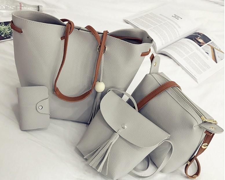 Женская сумка 3в1 серый