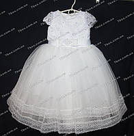 Детское платье бальное Мэри (молочное) Возраст 4-5 лет., фото 1