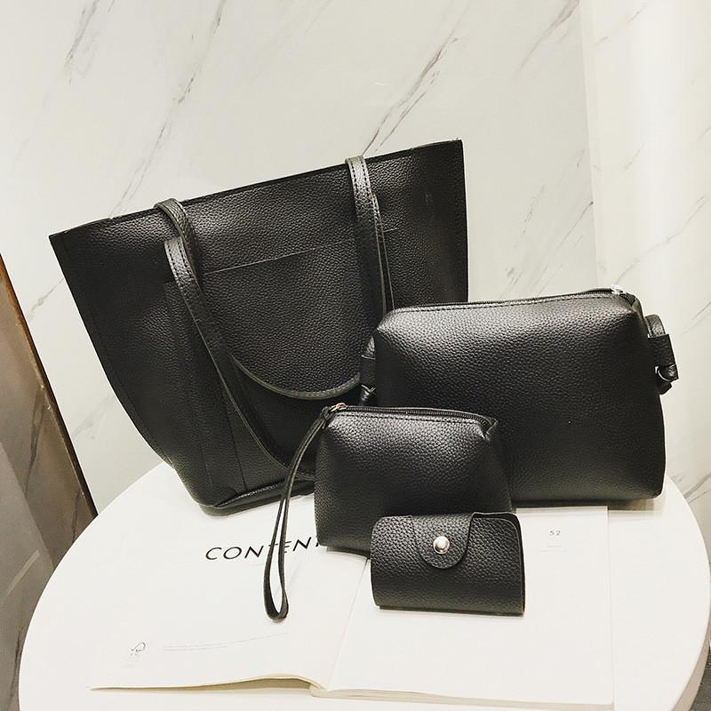 Набор женских сумок черный