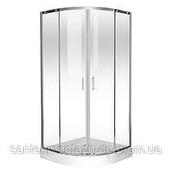 TOKAI душевая кабина 90*90*200 см, на мелком поддоне 15см, профиль хром, стекло прозрачное
