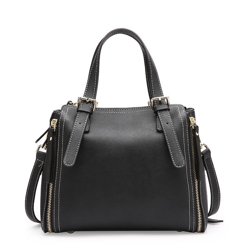 Женская сумка стильная кожаная черная опт