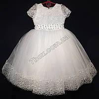 Детское платье бальное Княжна (белое) Возраст 4-6 лет., фото 1
