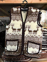 Жилетка из овчины 44-58, Жилетка з овечої шерсті, безрукавка з овечої шерсті, розмір 44-52