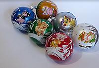 Набір пластикових куль з символом року 80 мм (упаковка 6 шт), фото 1