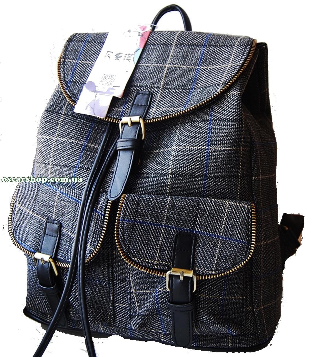 d55b537b08ce СР301, фото 3 Сумка портфель в клетку шотландка. Женский рюкзак стильный  супер качество!