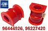 Полиуретановые втулки переднего стабилизатора ТИП 2 Deawoo Lanos (№ дет. 96444926, 96227420)