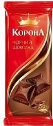 "Шоколад ""Корона"" чорный 90г"