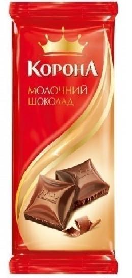 """Шоколад """"Корона"""" молочний 90г"""