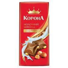 """Шоколад """"Корона"""" молочний  з горіхом 90г"""