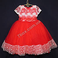 Детское платье бальное Княжна (красное) Возраст 4-6 лет. Опт и Розница, фото 1