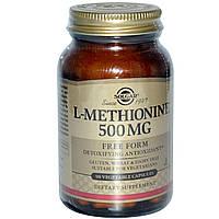 L-метионин, Solgar, 500 мг, 90 капсул