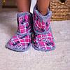 Женские теплые розовые тапочки сапожки для дома  Nicoletta