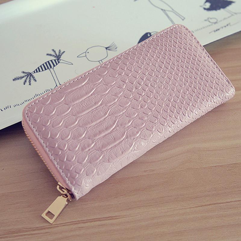 Женский кошелек с принтом розовый оптом
