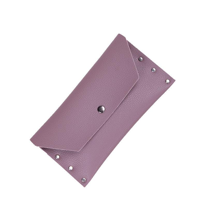 Женский кошелек на кнопке розовый