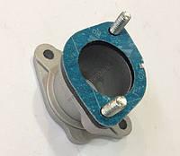 Патрубок карбюратора металлический прямой  Zubr T200