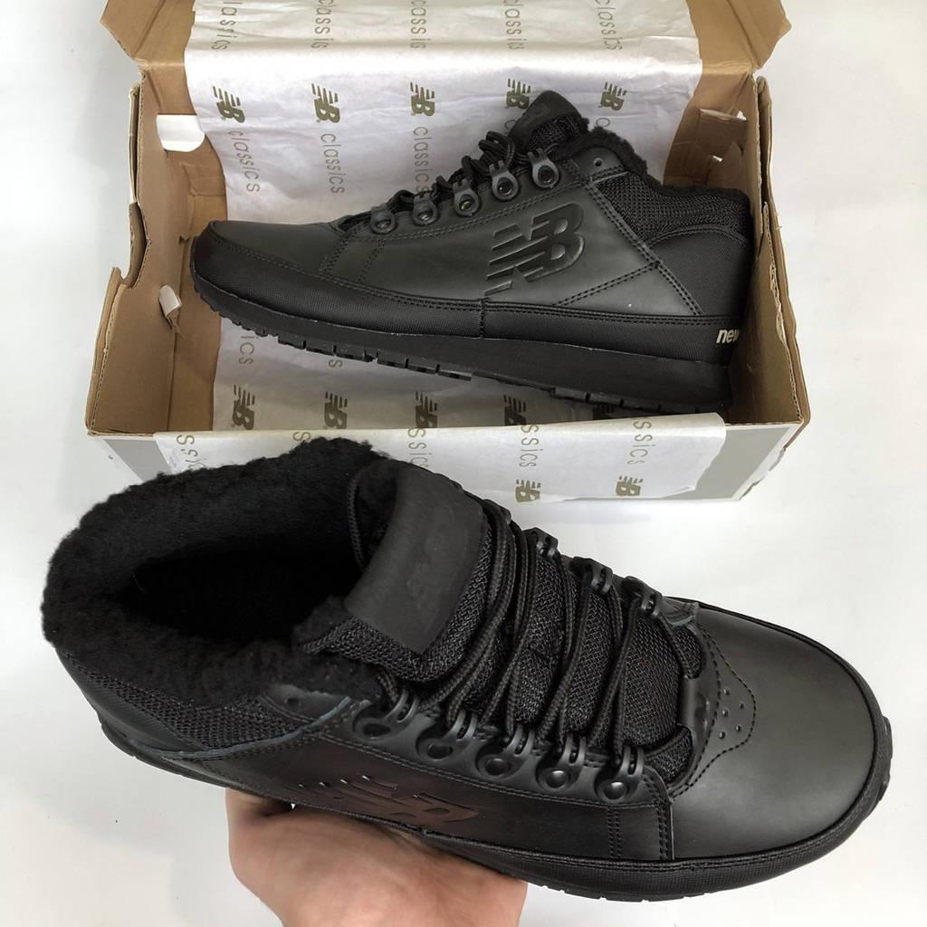 Зимние кроссовки New Balance 754 мужские с мехом 41-45 черные ( реплика ААА  класса) cdb75051c65