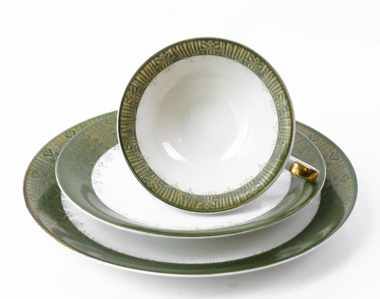 Чашка, блюдце, тарелка, фарфор, Германия, K&A Krautheim  Bavaria