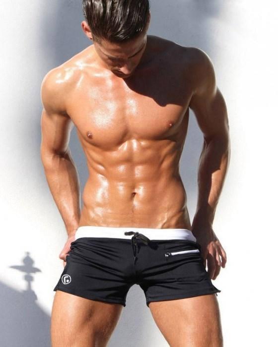 Черные мужские плавки шортикамим AQUX. Артикул: 1110