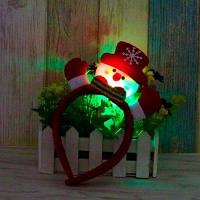 Симпатичная Светодиодная Мигающая Рождественская Головная Повязка Украшение На Голову Для Детей И Взрослых - Красный