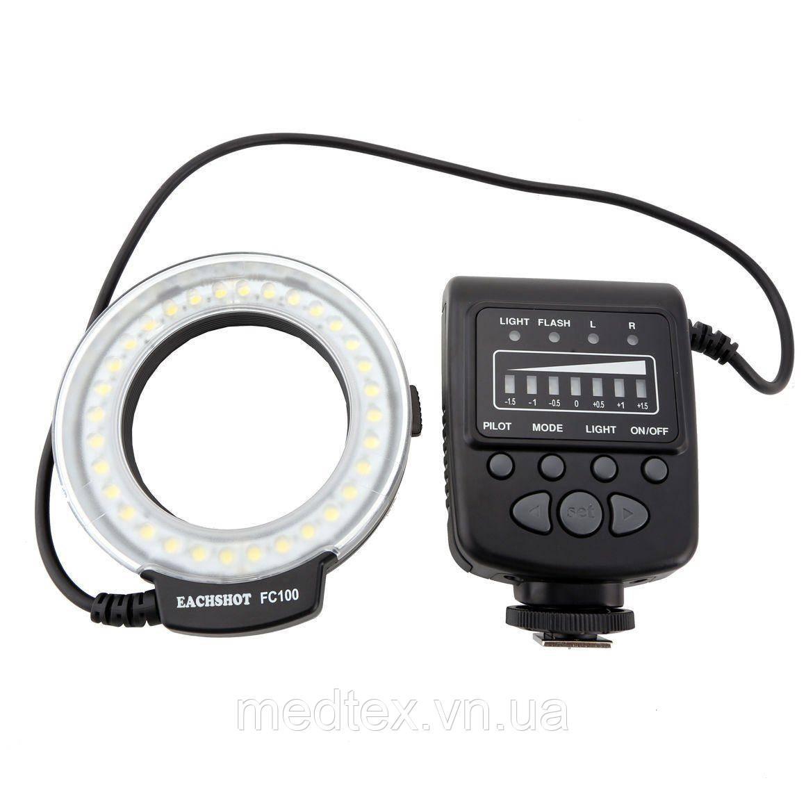 Кольцевая LED макровспышка MeiKe FC-100