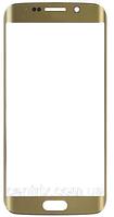 Стекло (для ремонта дисплея) Samsung G928 Galaxy S6 EDGE+, золотистое