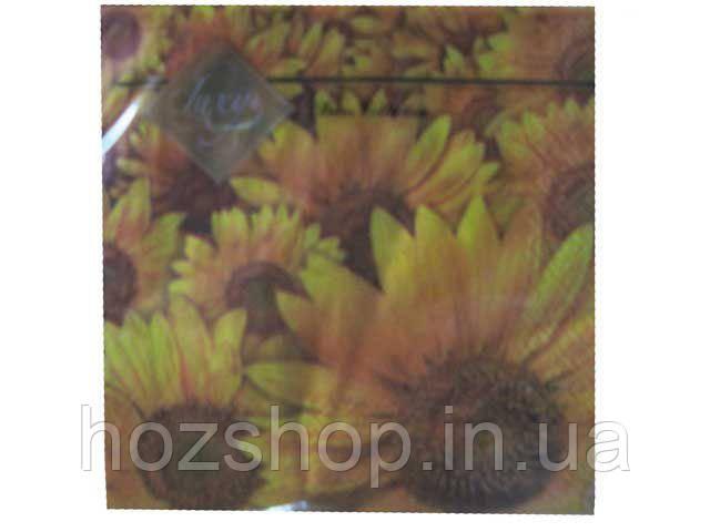 Салфетки столовые (ЗЗхЗЗ, 20шт) Luxy  Поле подсолнухов  (509) (1 пач)