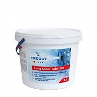 Хлор медленный (табл200 гр) Long chlor tabs 200 FROGGY T0500-00 (5кг)