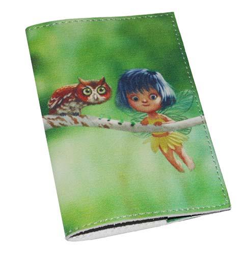 Обложка для паспорта женская -Фея и сова-