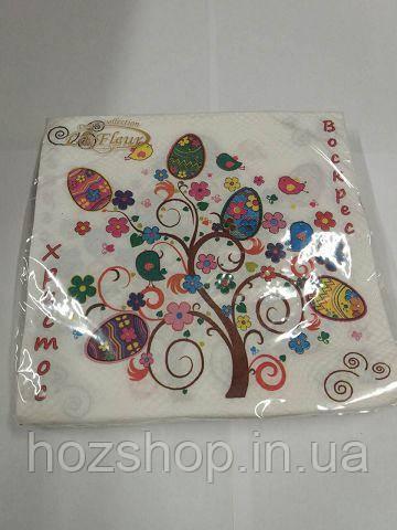 Салфетки столовые (ЗЗхЗЗ, 20шт)  La Fleur  Пасхальное дерево 992 (1 пач)