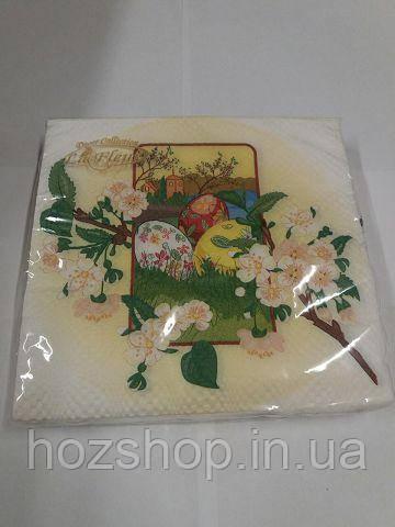Салфетка (ЗЗхЗЗ, 20шт)  La Fleur  Весенний цвет   888 (1 пач)