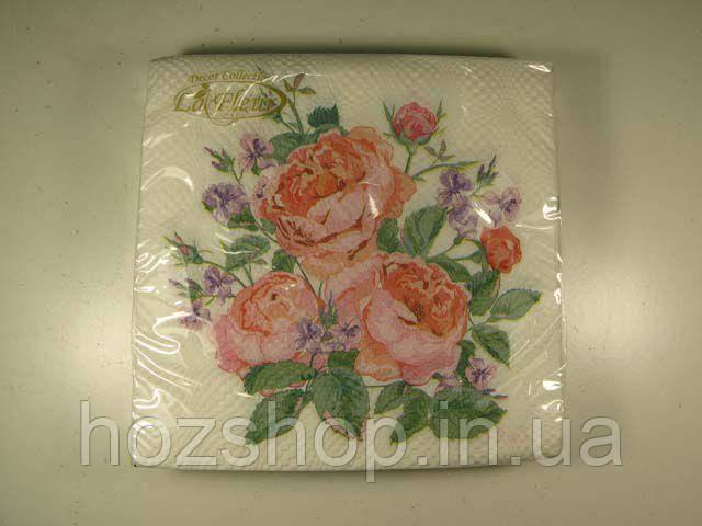 Салфетки столовые (ЗЗхЗЗ, 20шт)  La Fleur  нежная композиция 500 (1 пач)