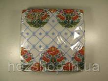 Салфетки столовые (ЗЗхЗЗ, 20шт)  La Fleur Украинские мотивы 002 (1 пач)