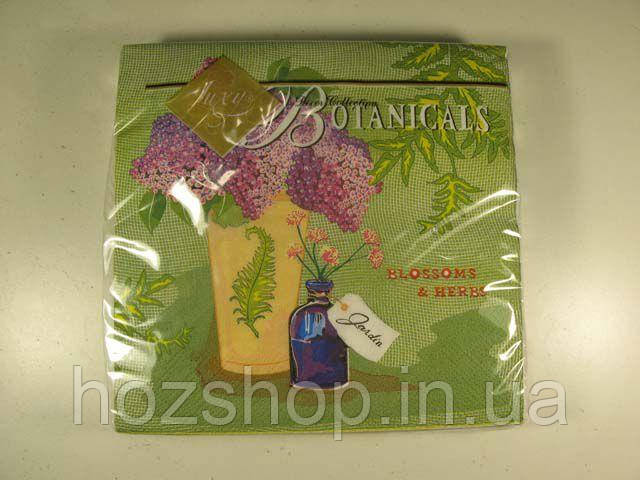 Салфетки столовые (ЗЗхЗЗ, 20шт) Luxy  Ботаника 703 (1 пач)