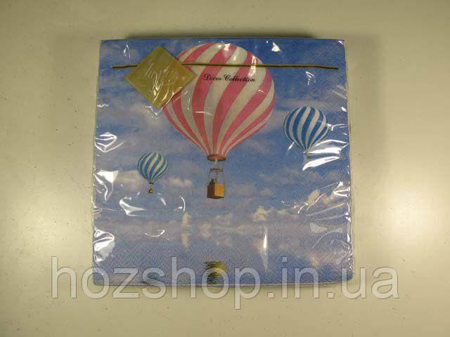 Салфетки столовые (ЗЗхЗЗ, 20шт) Luxy  Воздушные шары 116 (1 пач)