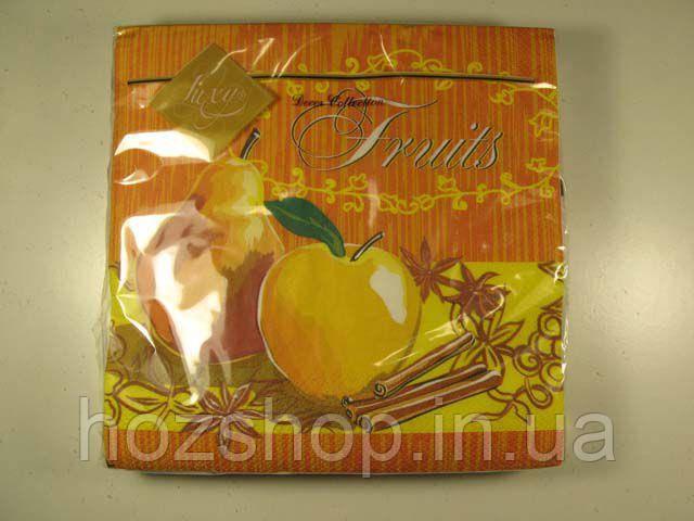 Салфетки столовые (ЗЗхЗЗ, 20шт) Luxy  Спелые фрукты 113 (1 пач)