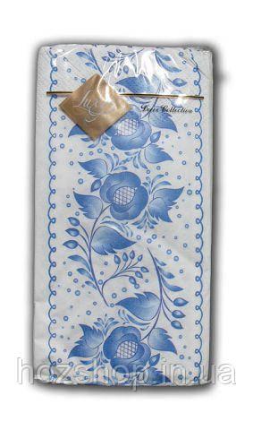 Салфетка (ЗЗхЗЗ, 10шт) Luxy MINI Цветочный ажур 2003 (1 пач)