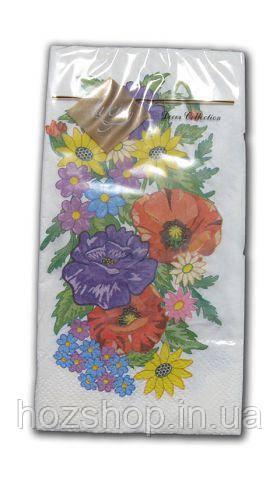 Салфетка (ЗЗхЗЗ, 10шт) Luxy MINI Цветочная вышиванка 2006 (1 пач)