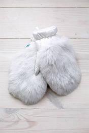 Варежки меховые детские Krolik в расцветках белый