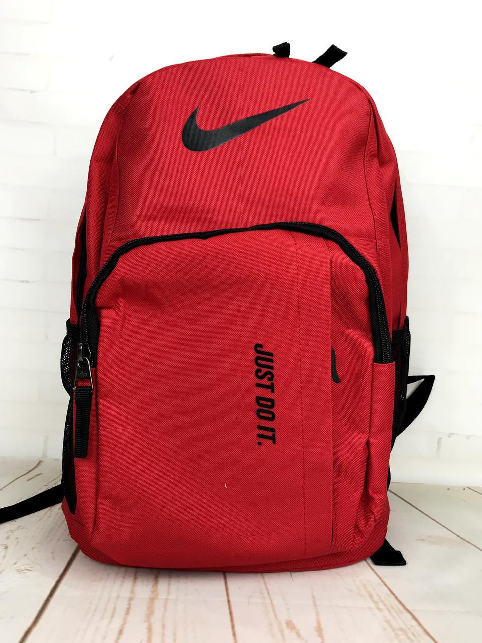 Небольшой рюкзак NIKE. Городской спортивный рюкзак. Красный РК12-1